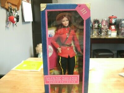 BARBIE DOLL , Dolls of the World  Canadian Royal Mounted Police Pink Label NIB