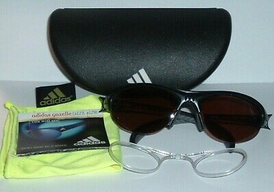 MINT!  Adidas Gazelle S (A129 6071)  Black POLARIZED Sport Sunglasses - Austria!