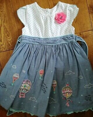 Monsoon flowers wedding summer PARTY girls DRESS  AGE 2 - 3 YEARS VGC worn once