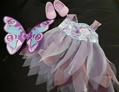 Zapp BABY BORN Doll Clothes ~ delux butterfly princess dress, shoes outfit set