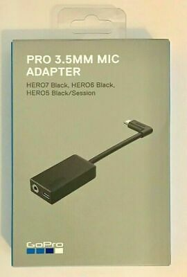 OEM GoPro Pro 3.5mm Mic Adapter for HERO5 /HERO7 / HERO6 BLACK AAMIC-001