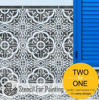 TAVIRA Tile Stencil for Painting for Floors or Walls