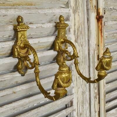 Superb Pair Antique French Empire Style Ormolu Curtain Tie / Hold Backs - B1026