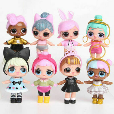LOL Surprise Doll Blind Mystery PVC Figure Cake Topper Gift Kid Girl Toy 8Pcs