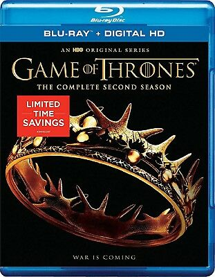 Game of Thrones: The Complete Second Season 2 (Blu-ray Disc, 2014, 5-Disc Set)