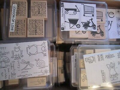STAMPIN UP WOOD STAMP SETS Retired YOU CHOOSE A thru Y
