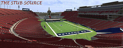 2 Tampa Buccaneers Los Angeles Rams Tickets 9/29 FRONT ROW S 316 Extra Leg Room