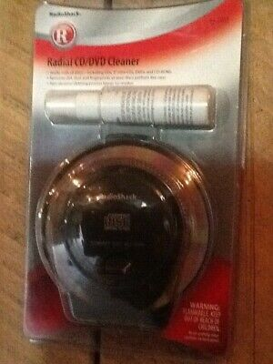Radio Shack CD/DVD Radial Cleaner Brand New In Package Sealed