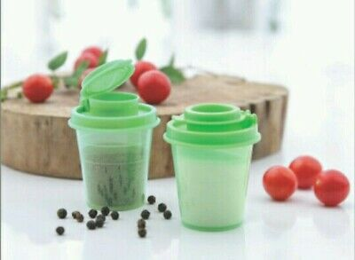 Tupperware Salt and Pepper Shakers Set of 2 in 2 Colors-New-Free Shipping