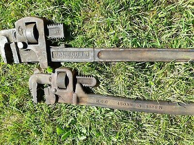 "2 X Pipe Wrenches/Stillsons Mcc Tool 18"" & Walworth 24""Inch"