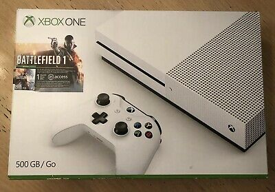Microsoft Xbox One 500GB 1681 White Console w/ Controller, 3 Games & Charge Kit