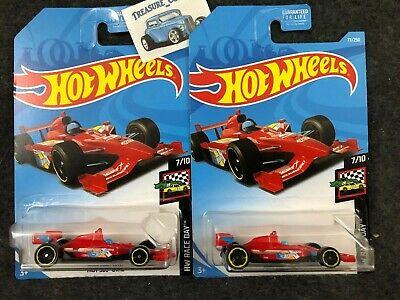 2019 Hot Wheels- Lot of 2 RED - Hw Race Day 7/10 - Indy 500 Oval RED