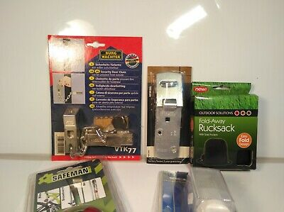 Bundle Vintage Door Locks and Alarms Hardware Doorstop Alarm Hasp Padlock etc