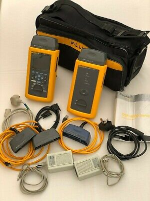 Fluke DSP-4100 Cable Analyser, DSP-4100SR Smart Remote and Accessories