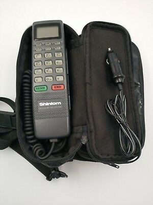 Vintage Shintom Cellular Telephone - AMPS Car Phone / Bag Phone - Powers on! A3