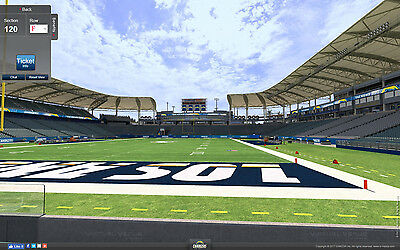 2 Seatle Seahawks vs Los Angeles Chargers Tickets 8/24 6th Row Field Sec 120