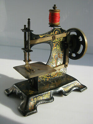 Lovely Small Hand-Cranked Sewing Machine With Flower Embossing. Made In Germany