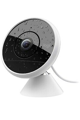 Logitech Circle 2 Indoor/Outdoor Wired Home Security Camera, Works with Alexa.