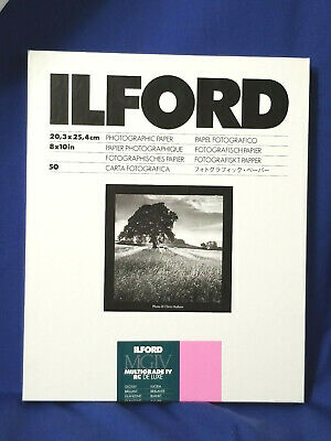 New Ilford MGIV Multigrade IV RC Deluxe Glossy 50 Sheets C6