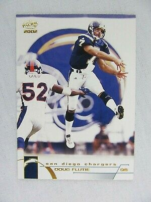 DOUG FLUTIE HAND Signed San Diego Chargers Football Card