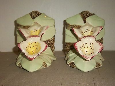 McCoy POTTERY - PAIR OF LILLY BOOKENDS - 1 DAMAGED