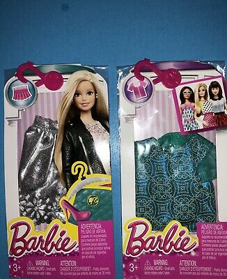 Dress Up Glam*Lot Of 2 Fashionista Separates Paks*Barbie*New*Mip*2014-15