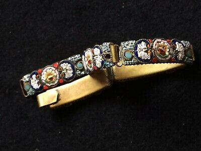 Fine Jewellery,Antique Italian Micro Mosaic  Braclet,Lovely Old Item Aprox 19Cm