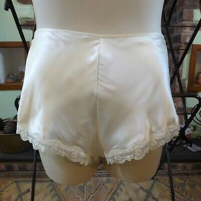 Beautiful Gloss Cream Vintage French Knickers St Michael 18
