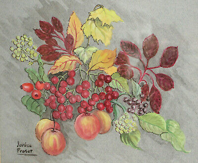 A Good Fruit Still Life Watercolour, Signed