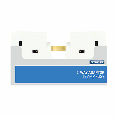 Status 3 way Fused Adaptor White  ( Loose )