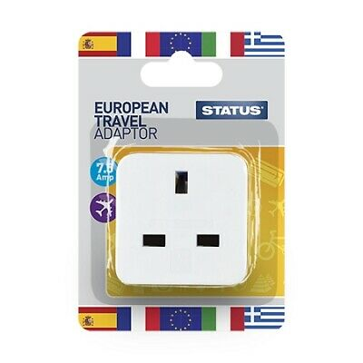 Status European Travel Adaptor White