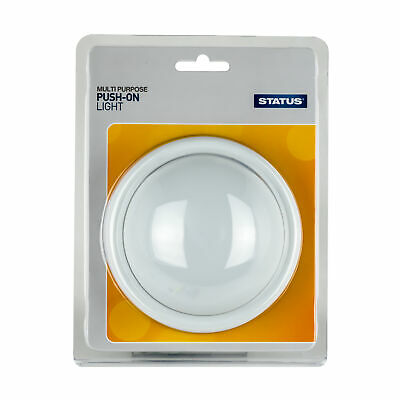 Status Push on Light Circular 4 x AA batteries (not included) White