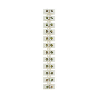 Status 15 amp Terminal Block Clear  ( Loose ) 12 blocks per strip