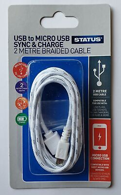 Status USB to Micro USB Sync & Charge Cable 2m