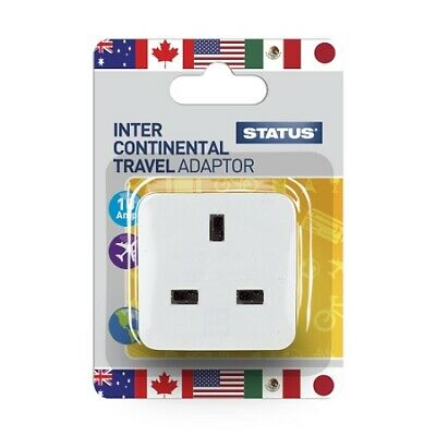 Status U.S.A. Intercontinental Adaptor White