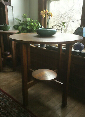 Antique Mission Oak Arts and Crafts Stickley? Lamp Side End Table
