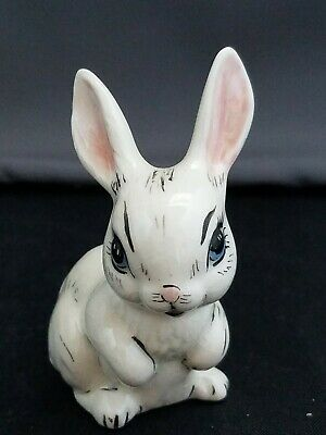 Beautiful Vintage Hand Painted Ceramic Rabbit Signed Esther