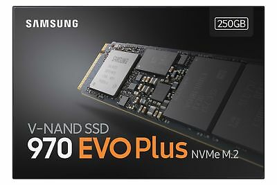 Samsung 250GB SSD 970 EVO Plus NVMe 1.3 M.2 2280 Solid State Drives