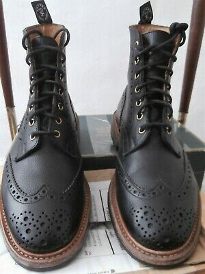 fb30cc2b63314 Tricker's StowTodd Snyder Black Pebble Grain Country Boots Size UK 8 1/2  Fitt 5