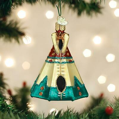 Old World Christmas Teepee Tent Nomadic Dwelling Glass Christmas Ornament 20111