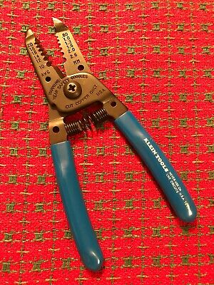"Klein Tools 1011 Wire Stripper Cutter Solid and Stranded Wire Blue 6 1/8"". New"