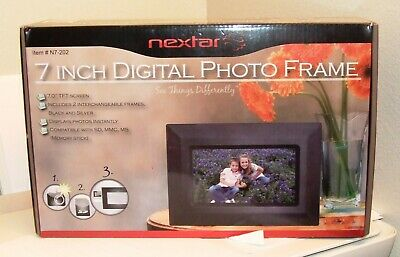 Nextar 7 Inch Digital Photo Frame-  #N7-202  - Includes 2 Frames - NWOT