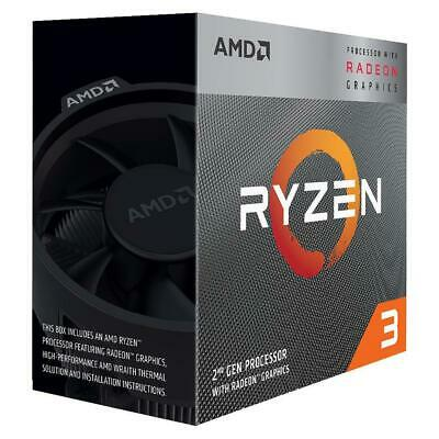 AMD Ryzen 3 3200G AM4 Processor 4MB 3.6 GHz 4 Core 4 Thread CPU Vega 8 Graphics