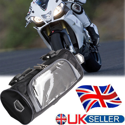 2.5L Windshield Motorcycle Motorbike Storage Case Luggage Expandable Pouch Bag