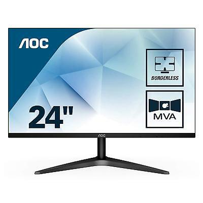 "AOC 24B1H Gaming Computer Monitor 23.6"" FHD 1920x1080 MVA Ultra Narrow Border"