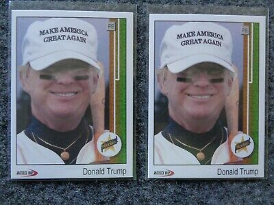 1989 Upper Deck Donald Trump Ken Griffey Jr. Rookie RC Parody ACEO Lot of (2)