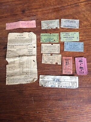 Antique railway tickets pay advice & other old vintage tickets Notes