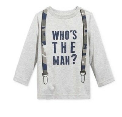 First Impressions Baby Boys Long-Sleeve Graphic Print T Shirt New