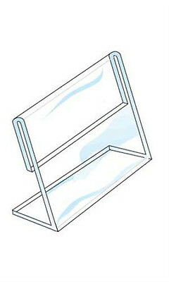 Single Sided Sign Holder in Acrylic 5 ½ H x 7 W Inches - Box of 10