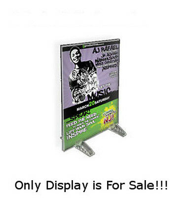 Acrylic Clear Dual Stand Sign Holder 4W x 5H Inches - Case of 10